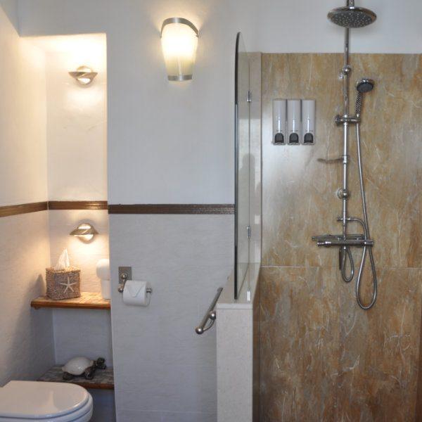 A luxurious shower